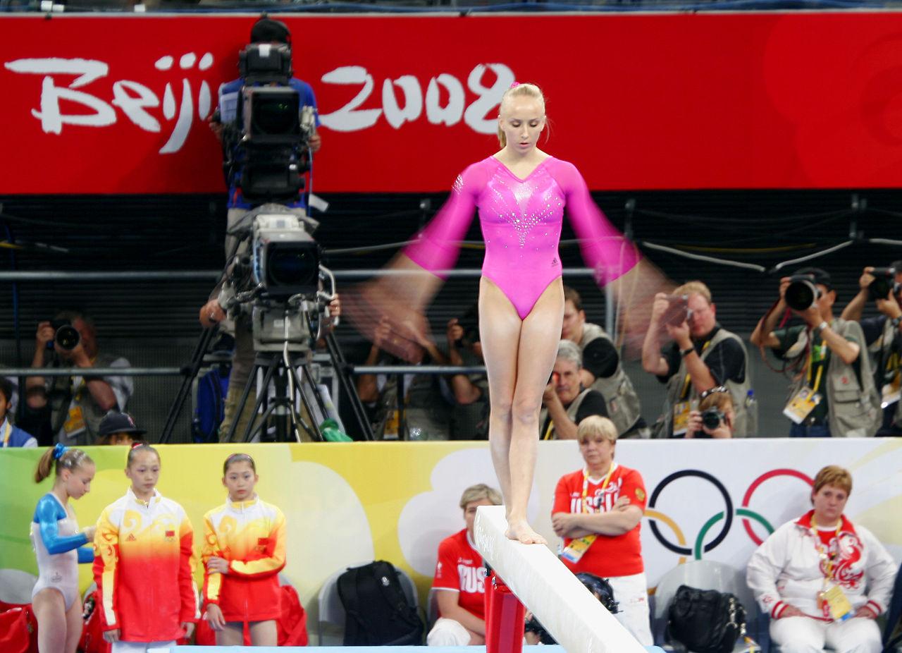 Liukin, en los Juegos de 2008 (WIKIPEDIA).