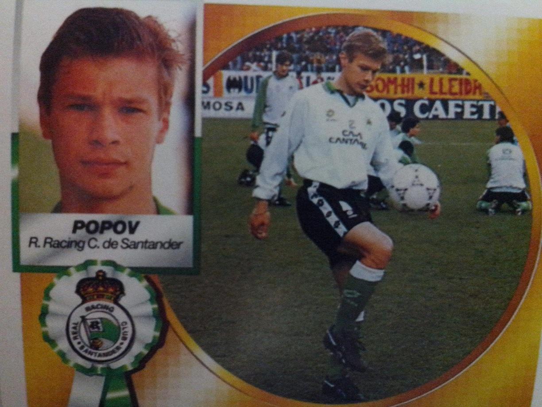 Cromo de Popov en su segunda temporada en el Racing (Ed. Este).