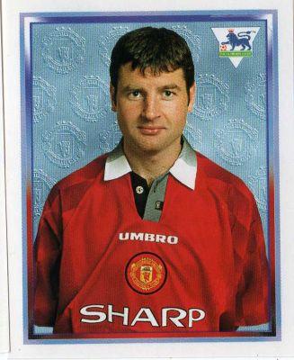 Denis Irwin, en un cromo del Manchester United (PANINI).