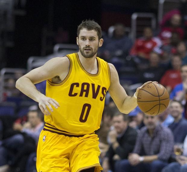 Kevin Love, con la camiseta 0 de los Cleveland Cavaliers esta temporada (WIKIPEDIA).