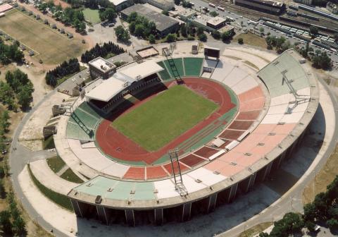 Imagen aérea del Ferenc Puskás Stadium (WIKIPEDIA)