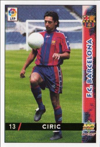 Ciric, en su presentación con el Barça (Trading Cards).