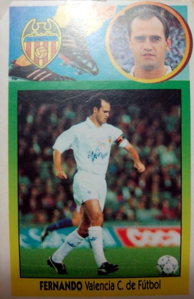 Cromo de Fernando de la temporada 96-97 (Ed. Este).