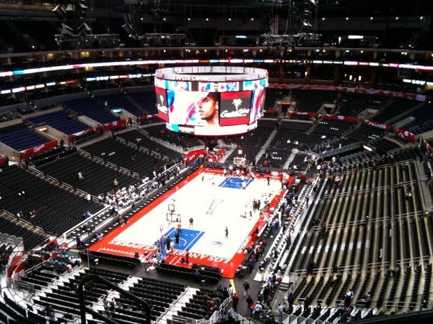 Interior del Staples, antes de un partido de los Clippers en 2011 (WIKIPEDIA).