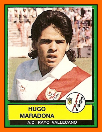 Cromo de Maradona en el Rayo (PANINI).