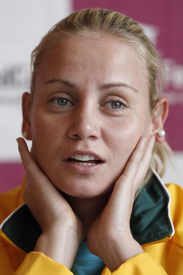 Dokic, en una convocatoria del equipo australiano de Copa Federación en 2012 (Archivo 20minutos).