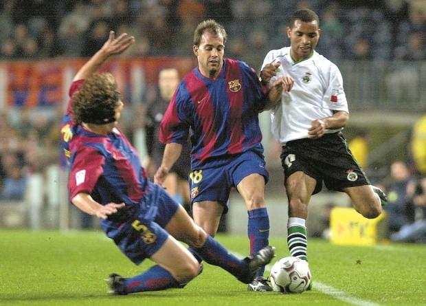 Gabri, en la temporada 2002-2003 en un partido ante el Racing de Santander en el Camp Nou (Archivo 20minutos).