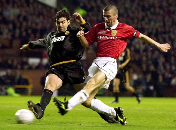 Keane, en un partido de Liga de Campeones contra el Madrid en Old Trafford en 2000 (Archivo 20minutos).