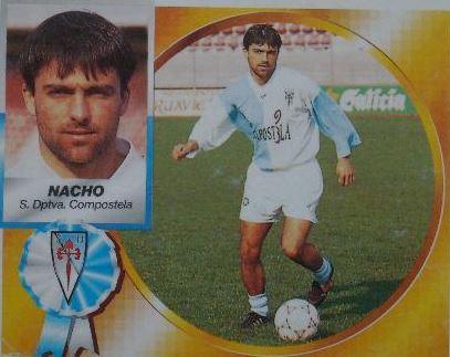 Cromo de Nacho con el Compostela (Ed. ESTE)
