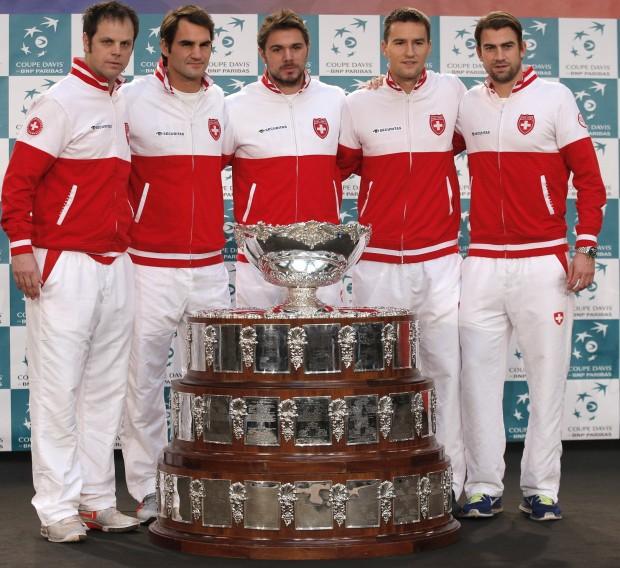 La Davis, con el actual equipo ganador, Suiza (GTRES).