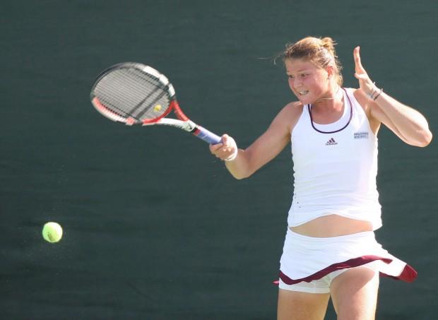 Dinara Safina, disputando un torneo en Dubái en 2008 (Archivo 20minutos).
