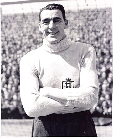 Frank Swift, con la selección de Inglaterra (WIKIPEDIA).