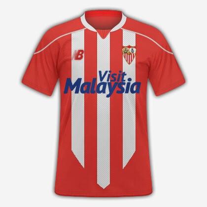 Supuesta camiseta rojiblanca del Sevilla (FootyHeadLines).