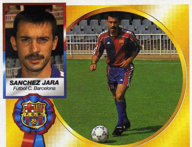 Cromo de Sánchez Jara en su época del Barça (Ed. Este).