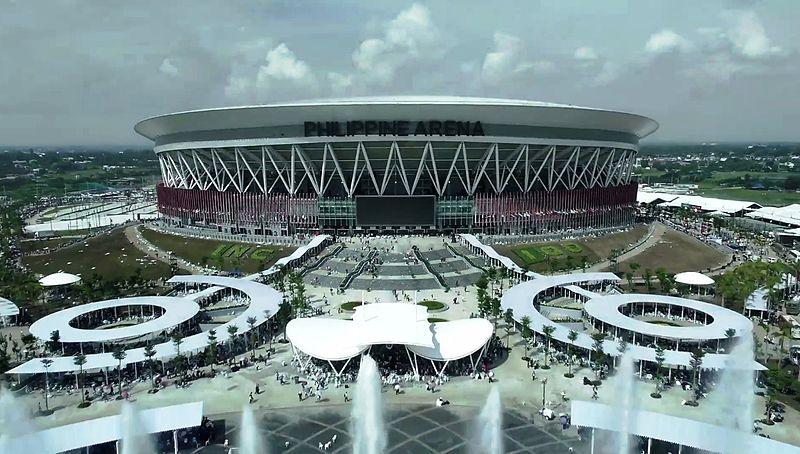 Imagen del exterior de la Arena Filipina (WIKIPEDIA).