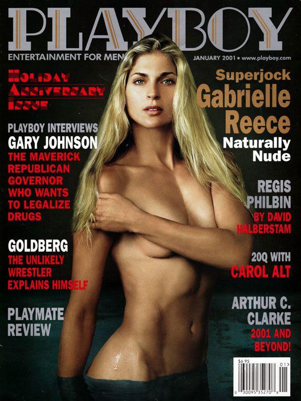'Playboy' de enero de 2001, con Gabrielle Reece en la portada.