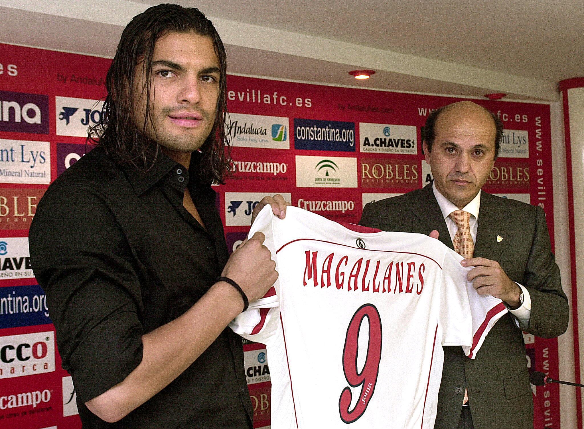 Magallanes, el día de su presentación con el Sevilla (Archivo 20minutos).