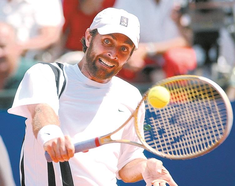 Mantilla, en la final de Roma de 2003 en la que batió a Federer (Archivo 20minutos).