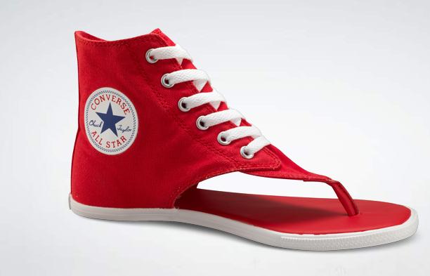 zapatillas converse rojas sin caña