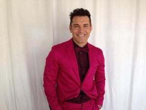 Jesús Vázquez, con su traje (Twitter)