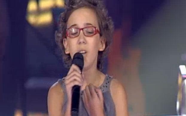 Iraila, cantando en 'La Voz'
