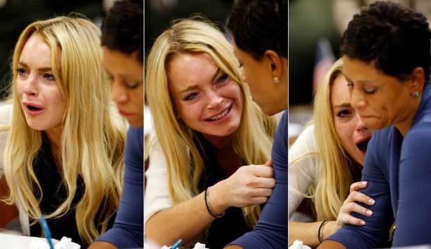 Lindsay Lohan, feliz, al ser condenada (EFE).