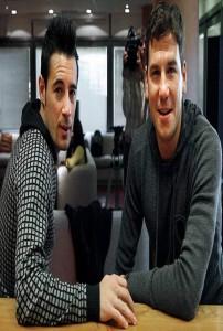 Andy y Lucas, delgados como ellos solos gracias a la deformación de la foto (ARCHIVO)