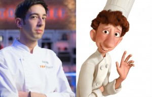 David y su doble de Ratatouille.
