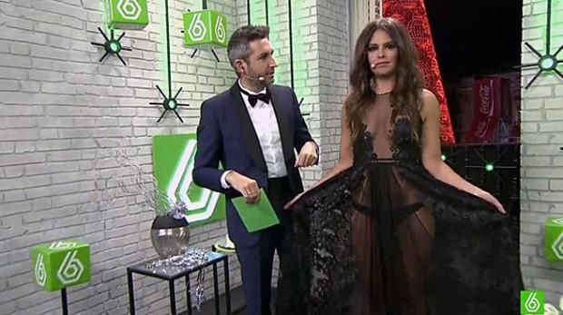 Cristina Pedroche, demostrando que se depila (LA SEXTA)