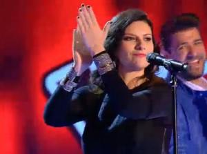 Laura Pausini, muy flamenca en 'La Voz' (TELECINCO)
