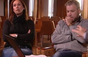Toñi y Laurent, escuchando al Belga (ATRESMEDIA)