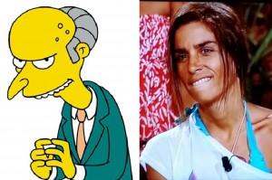 Suhaila y el señor Burns.