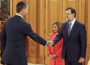 Con Felipe VI y Mariano Rajoy el 29 de septiembre.