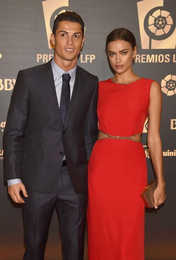 Cristiano e Irina en la galal de los premios de Liga de Futbol Profesional (LFP) el pasado octubre. (GTRES)