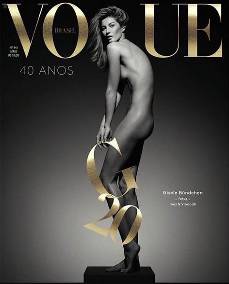 Doble celebración: 40 años de Vogue Brasil, 20 de Gisele sobre las pasarelas