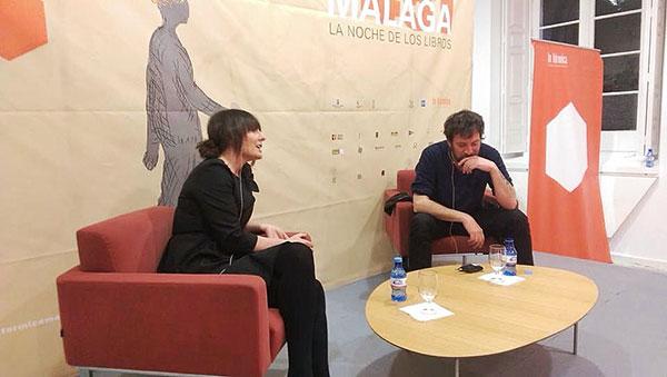 Silvia Grijalba y Ray Loriga, el viernes pasado. © La Térmica.
