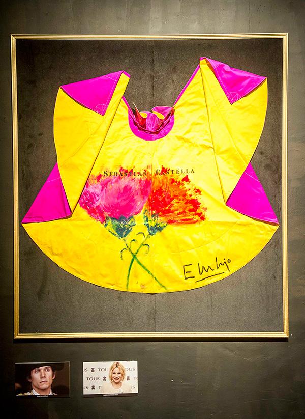 Aquí el capote que ha dibujado Eugenia Martínez de Irujo.