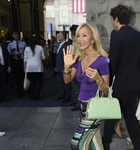 Carmen Lomana, a su llegada a la fiesta en el Conde Duque. Foto: © Gtres
