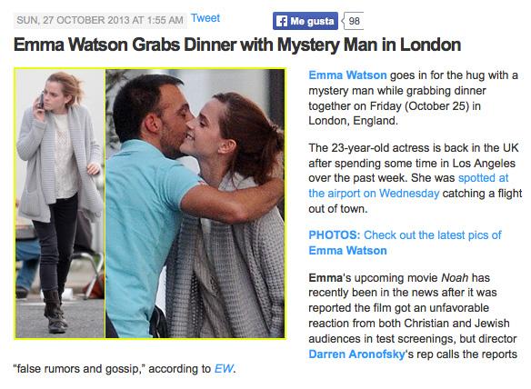 El hombre misterioso de Emma Watson para la revista www.justjared.com