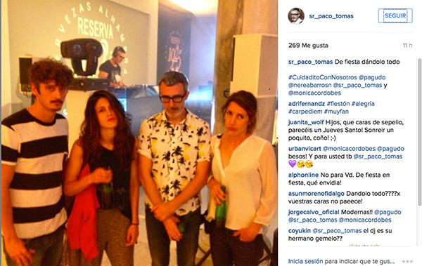 Paco Tomás con Antonio Pagudo, Nerea Barros y Mónica Cordobés