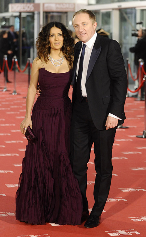 Con su marido en la gala de los Goya 2012. © Gtres