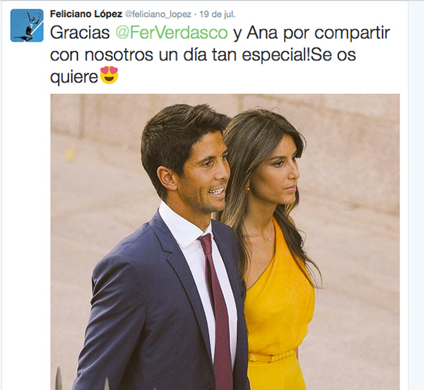 Ana Boyer y Fernando Verdasco, los invitados que causaron una mayor expectación. © Gtres