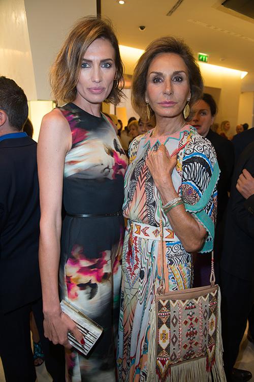 Nieves Álvarez y Nati Abascal, en la fiesta de Bulgari. © Gtres