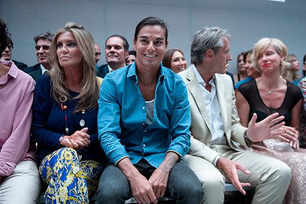 Julio Iglesias Jr., ayer, en el 'front row' del desfile de Emidio Tucci