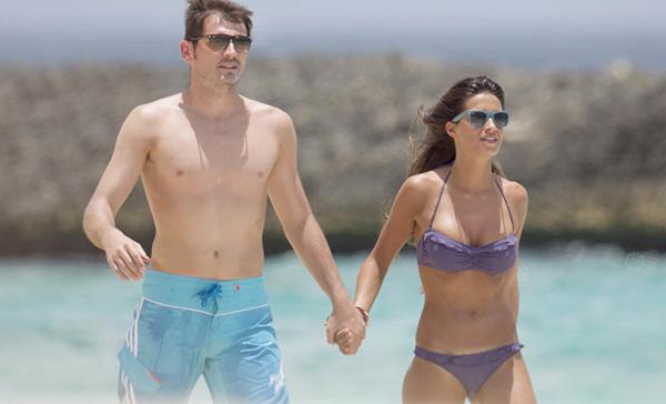 Sara Carbonero e Iker Casillas, en una foto de 2012 en Brasil. © Gtres