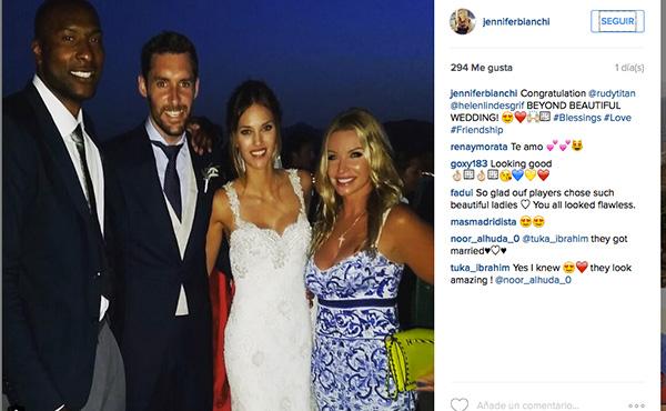 Jennifer Bianchi, mujer del jugador Marcus Slaughter, fue la primera en subir una foto con los novios