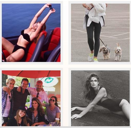 Imágenes de la cuenta de Cindy Crawford en Instagram
