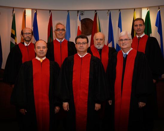 Composición actual de la Corte Interamericana de Derechos Humanos. Imagen oficial de la CIDH.