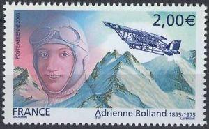 Adrienne Bolland en los sellos franceses de octubre de 2005