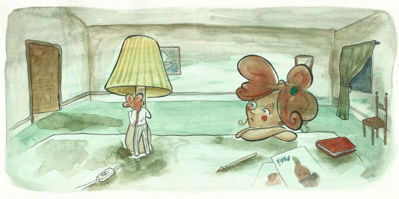 Ilustración del cuento 'La casa del mar en calma', de Itziar Fernández Cortés.